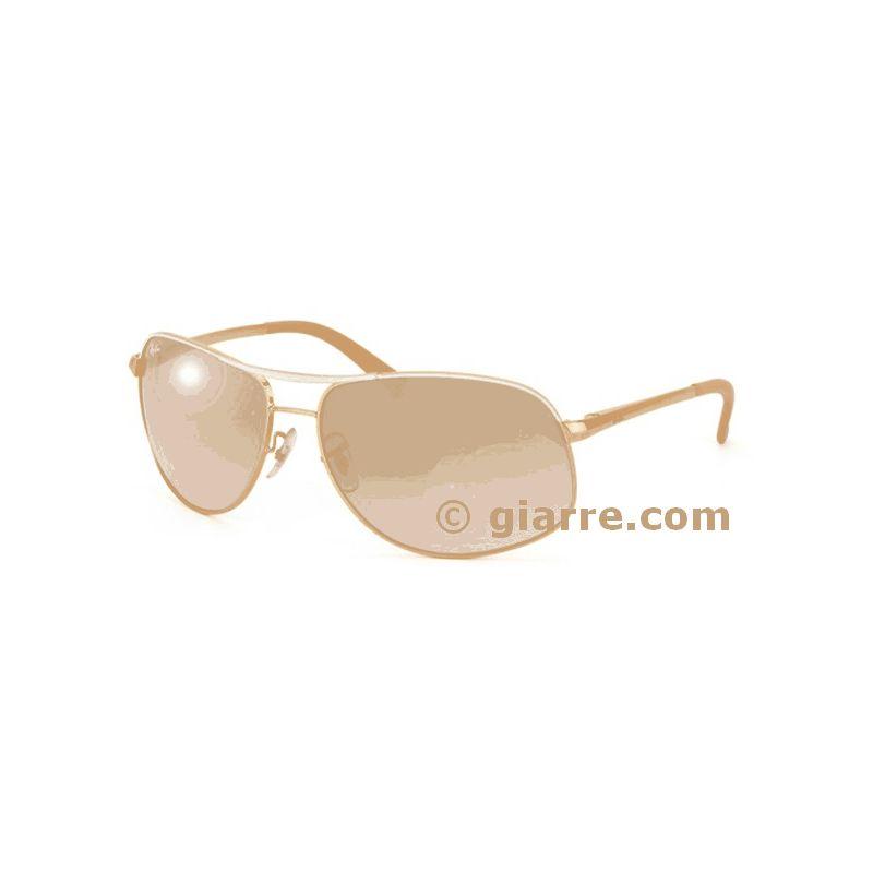 699259516ca Ray Ban modelo RB3387-077-7B  Coleção clássica de óculos.